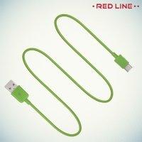 Кабель USB - USB Type-C Зеленый Red Line