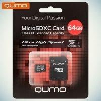 Карта памяти QUMO MicroSDXC 64 ГБ Class 10 UHS-I