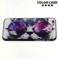Кейс накладка для iPhone 6S - с рисунком Кот в очках