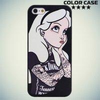 Кейс накладка для iPhone 6S - с рисунком Татуированная Алиса