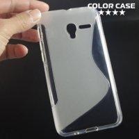 Силиконовый чехол для Alcatel One Touch Pop 3 (5) 5015D 5065D - S-образный Прозрачный