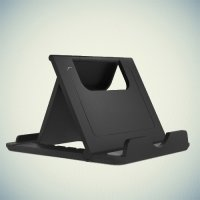 Многоугловая подставка для телефонов черная