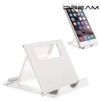 Многоугловая подставка для телефонов белая