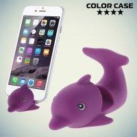 Настольная подставка для телефона Дельфин - Фиолетовый