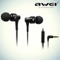 Наушники гарнитура с микрофоном Awei ES-500i – Черный