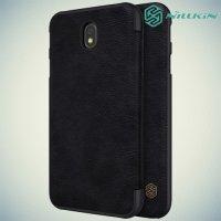 Nillkin Qin Series чехол книжка для Samsung Galaxy J7 2017 SM-J730F - Черный