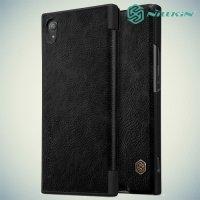 Nillkin Qin Series чехол книжка для Sony Xperia XA1 Plus - Черный