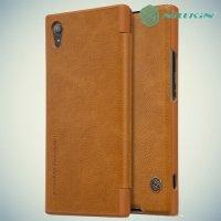 Nillkin Qin Series чехол книжка для Sony Xperia XA1 Plus - Коричневый