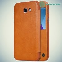 Nillkin Qin Series чехол книжка для Galaxy A5 2017 SM-A520F - Коричневый