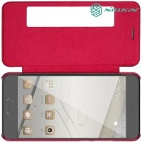 Nillkin Qin Series чехол книжка для Huawei P10 - Красный