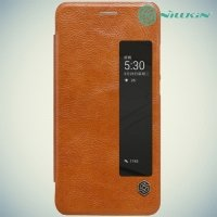 Nillkin Qin Series чехол книжка для Huawei P10 - Коричневый