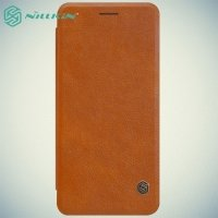 Nillkin Qin Series чехол книжка для Samsung Galaxy Note 7 - Коричневый