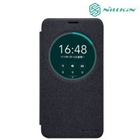 Nillkin с умным окном чехол книжка для Asus Zenfone 2 Laser ZE550KL - Sparkle Case Серый