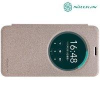 Nillkin с умным окном чехол книжка для Asus Zenfone 2 Laser ZE550KL - Sparkle Case Золотой