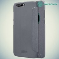 Nillkin с умным окном чехол книжка для Asus Zenfone 4 ZE554KL - Sparkle Case Серый