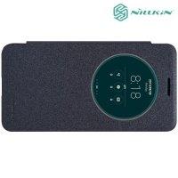 Nillkin с умным окном чехол книжка для ASUS ZenFone Go ZC500TG - Sparkle Case Серый