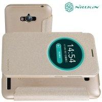 Nillkin с умным окном чехол книжка для ASUS ZenFone Max ZC550KL - Sparkle Case Золотой