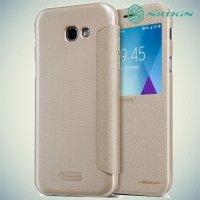Nillkin с окном чехол книжка для Galaxy A5 2017 SM-A520F - Sparkle Case Золотой