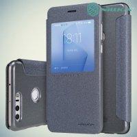Nillkin с умным окном чехол книжка для Huawei Honor 8 - Sparkle Case Серый