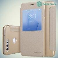 Nillkin с умным окном чехол книжка для Huawei Honor 8 - Sparkle Case Золотой