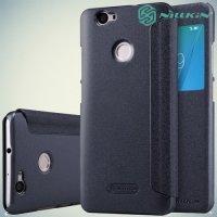 Nillkin с умным окном чехол книжка для Huawei nova - Sparkle Case Серый