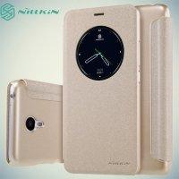 Nillkin с умным окном чехол книжка для Meizu M3 Note - Sparkle Case Золотой