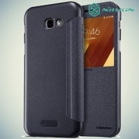 Nillkin с окном чехол книжка для Samsung Galaxy A7 2017 SM-A720F - Sparkle Case Серый
