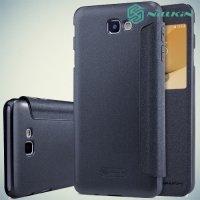 Nillkin с окном чехол книжка для Samsung Galaxy J5 Prime - Sparkle Case Серый