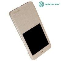 Nillkin с умным окном чехол книжка для Xiaomi Redmi Note 4 - Sparkle Case Золотой