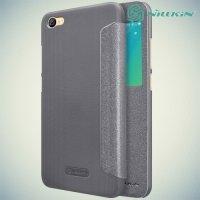 Nillkin с окном чехол книжка для Xiaomi Redmi Note 5A 2/16 GB - Sparkle Case Серый
