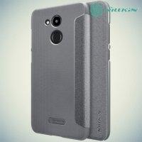 Nillkin ультра тонкий чехол книжка для Huawei Honor 6C Pro - Sparkle Case Серый