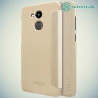 Nillkin ультра тонкий чехол книжка для Huawei Honor 6C Pro - Sparkle Case Золотой