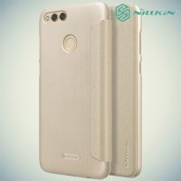 Nillkin ультра тонкий чехол книжка для Huawei Honor 7X - Sparkle Case Золотой
