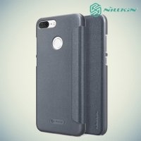 Nillkin ультра тонкий чехол книжка для Huawei Honor 9 Lite - Sparkle Case Серый