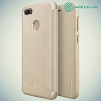 Nillkin ультра тонкий чехол книжка для Huawei Nova lite 2017 - Sparkle Case Золотой