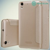 Nillkin ультра тонкий чехол книжка для Huawei Y6 II - Sparkle Case Золотой