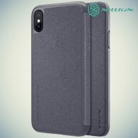 Nillkin ультра тонкий чехол книжка для iPhone X - Sparkle Case Серый