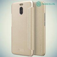 Nillkin ультра тонкий чехол книжка для Meizu M6 Note - Sparkle Case Золотой