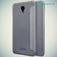 Nillkin ультра тонкий чехол книжка для Meizu M6 - Sparkle Case Серый