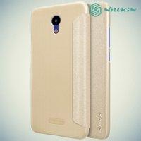 Nillkin ультра тонкий чехол книжка для Meizu M6 - Sparkle Case Золотой