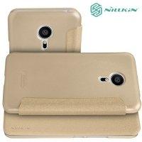 Nillkin ультра тонкий чехол книжка для Meizu PRO 5 - Sparkle Case Золотой