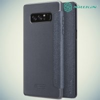 Nillkin ультра тонкий чехол книжка для Samsung Galaxy Note 8 - Sparkle Case Серый