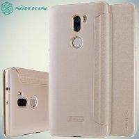 Nillkin ультра тонкий чехол книжка для Xiaomi Mi 5s Plus - Sparkle Case Золотой