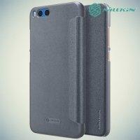 Nillkin ультра тонкий чехол книжка для Xiaomi Mi Note 3 - Sparkle Case Серый