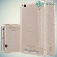 Nillkin ультра тонкий чехол книжка для Xiaomi Redmi 3 - Sparkle Case Золотой
