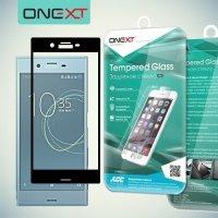 OneXT Закругленное защитное 3D стекло для Sony Xperia X Compact на весь экран - Черный