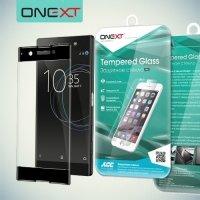 OneXT Закругленное защитное 3D стекло для Sony Xperia XA1 на весь экран - Черный
