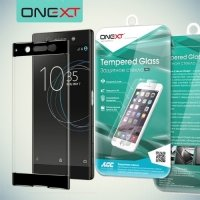 OneXT Закругленное защитное 3D стекло для Sony Xperia XA1 Ultra на весь экран - Черный
