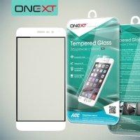 OneXT Защитное стекло для Asus Zenfone 3 ZE520KL на весь экран - Белый