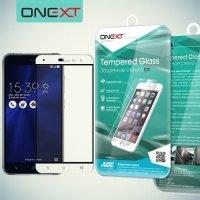 OneXT Защитное стекло для Asus Zenfone 3 ZE552KL на весь экран - Белый